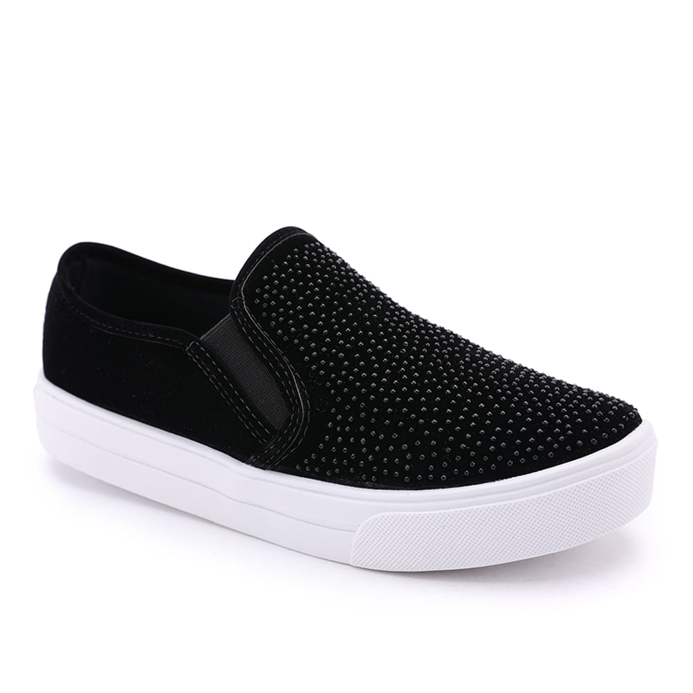 TENIS-CAS-HOT-FIX-SLIP-ON-PINK-77609-FLOCK-PRETO-35---------------------------------------------------------------------