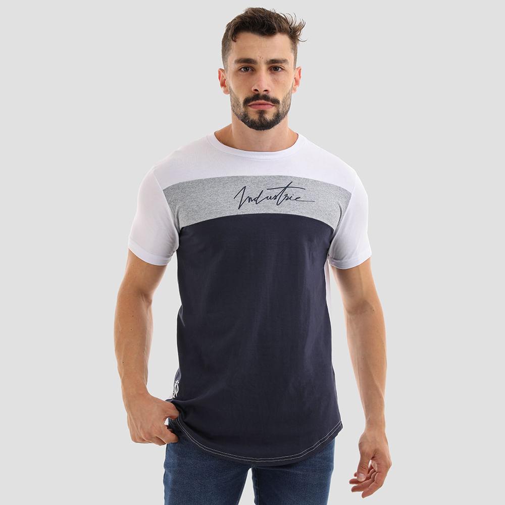 CAMISETA-ALONGADA-INDUSTRIE-9303-BRANCO-MESCLA-P